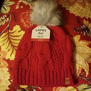 Pom pom Knit Ladies Hat